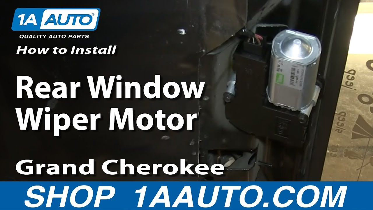 How To Install Replace Rear Window Wiper Motor 1993 98