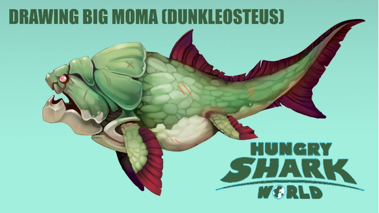 Drawing Big Moma from Hungry Shark World - YouTube