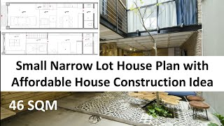 Small Narrow Lot House Plan With Affordable House Construction Idea