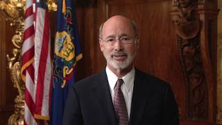 Governor Tom Wolf - message on arrival of Hazrat Mirza Masroor Ahmad (may Allah be his helper).