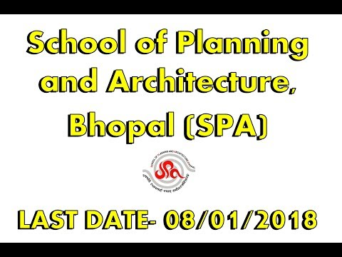School of Planning and Architecture, Bhopal new job.