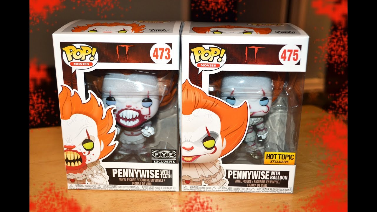 Funko Pop It Pennywise Exclusive Fye Amp Hot Topic Figures