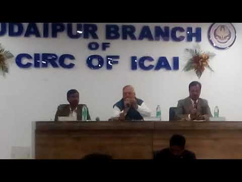Impact of Media on our Society Discussion at ICAI Branch Udaipur in CA Caphony 2016