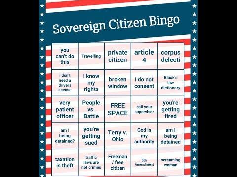 Sovereign Citizen Bingo 2: Angry Cops