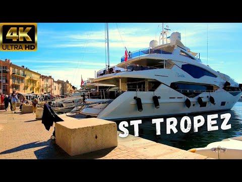 💲 Yachts of Saint Tropez ⚓ France Riviera Walking Tour 2021