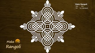 Simple Padi Kolam with 5x1 Interlaced dots | Thaipusam Kolam | Padi Kolam Designs | Make Rangoli