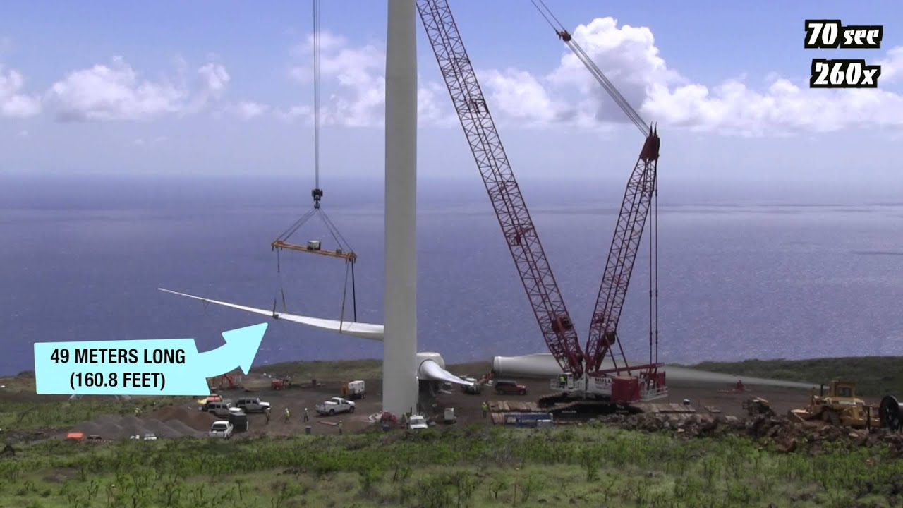 Wind Turbine Construction in 100 Seconds Time Lapse