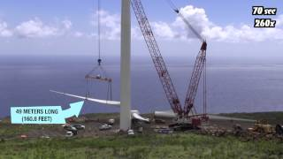 Wind Turbine Construction in 100 Seconds (Time Lapse)