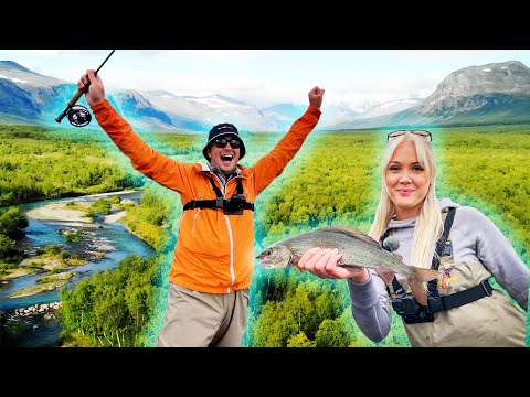 FLY FISHING For Giant Grayling In The Swedish Mountains