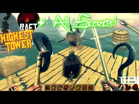 Raft Survival - Highest Tower & All Secret Tricks! +SAVE File