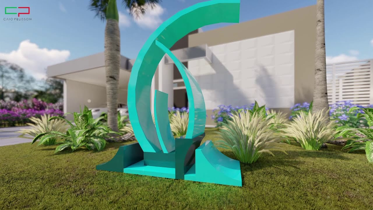 Projeto casa terrea moderna fachada reta ambientes for Casa moderna 64