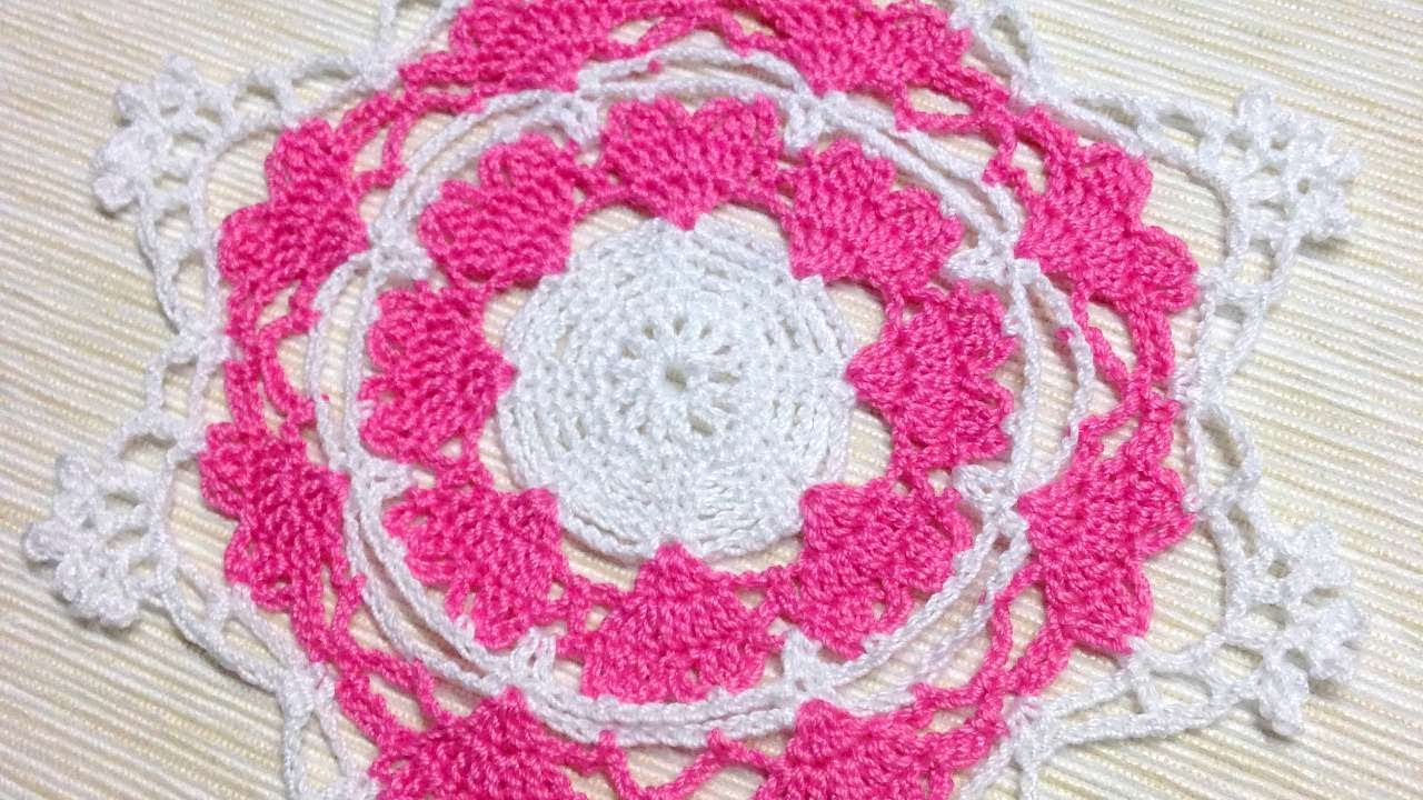 How To Make A Tender Crocheted Heart Doily Diy Crafts Tutorial