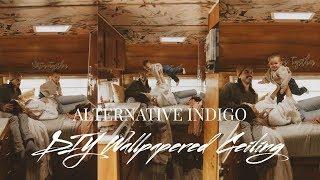 How To Wallpaper A Ceiling - Travel Trailer Edition | Alternative Indigo | Alexis Kaiser ☾✰
