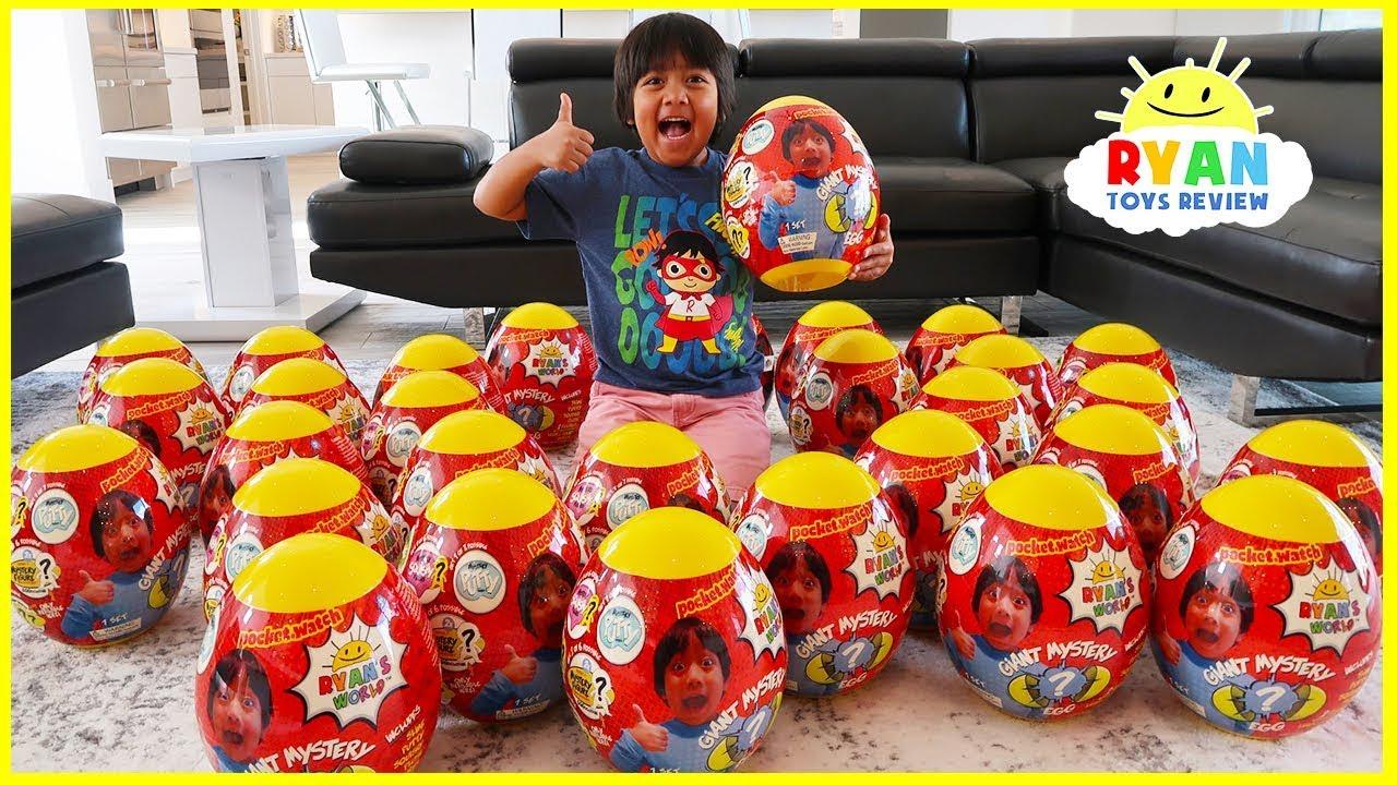 giant easter egg hunt surprise toys for kids pretend play
