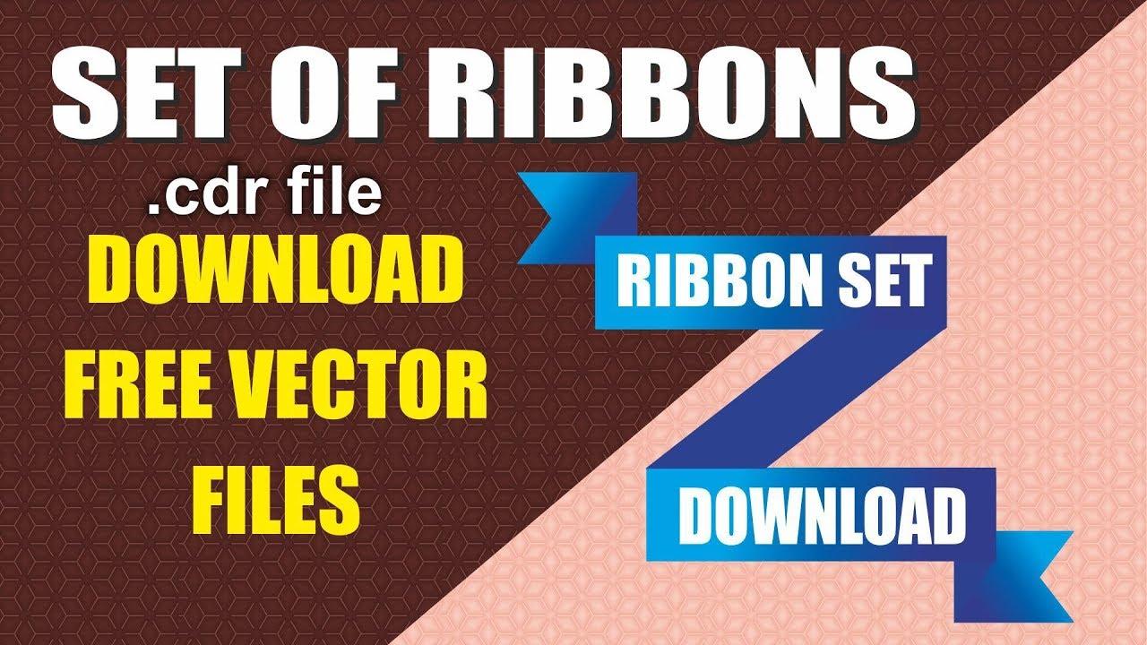 Ribbon vector set free download with cdtfb - corel draw & pdf files, learn  corel, free tutorials