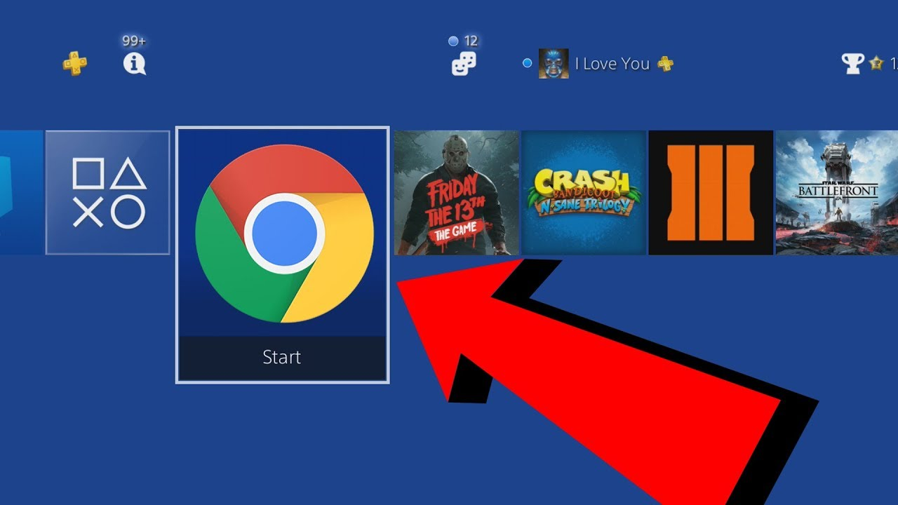 what happens when you download an internet browser on ps4?