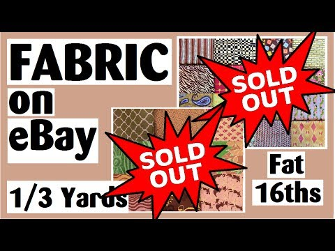 **SOLD OUT** 1/3 Yards and Fat 16ths | 100% Cotton | No Duplicates | Quilt Fabric Stash
