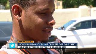 St. Pete Police pulling officers off the street to move them i…