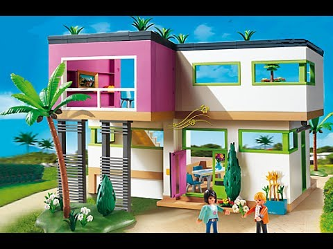 Playmobil city life haus maison moderne luxusvilla 5574 for Chambre playmobil