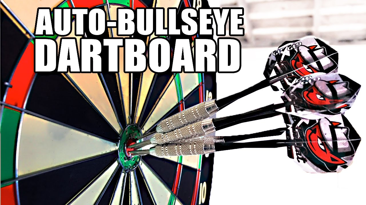 Automatic Bullseye, MOVING DARTBOARD - YouTube