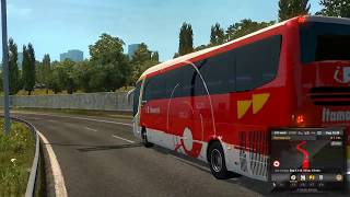 Testando mod Bus no Euro Truk Simulador2 Versao 1.22 so Onibus top