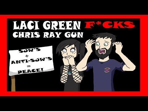 Laci Green F*cks Chris Ray Gun For Peace - Anita Sarkeesian Needs More Money