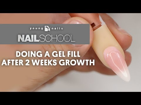 YN NAIL SCHOOL - DOING A GEL FILL AFTER 2 WEEKS GROWTH