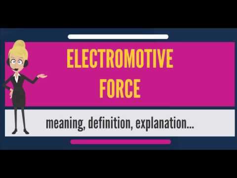 What Does Electromotive Force Mean Meaning
