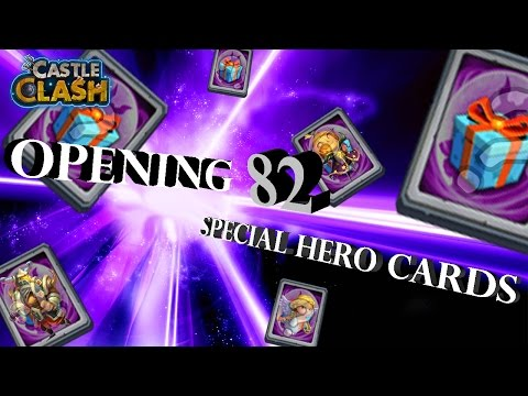 Castle Clash: Opening 82 Special Hero Cards! | Castle Clash World Record?