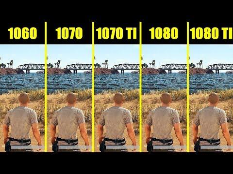 PUBG Full Release 1080 ti vs 1080 vs 1070 ti vs 1070 vs 1060 8700K