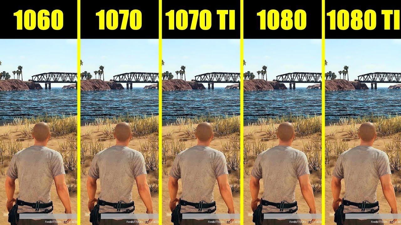 PUBG Full Release 1080 ti vs 1080 vs 1070 ti vs 1070 vs 1060 8700K Frame  Rate Comparison