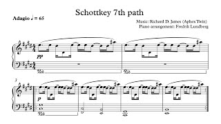 Aphex Twin - Schottkey 7th path (Piano Cover with Sheet Music) Resimi