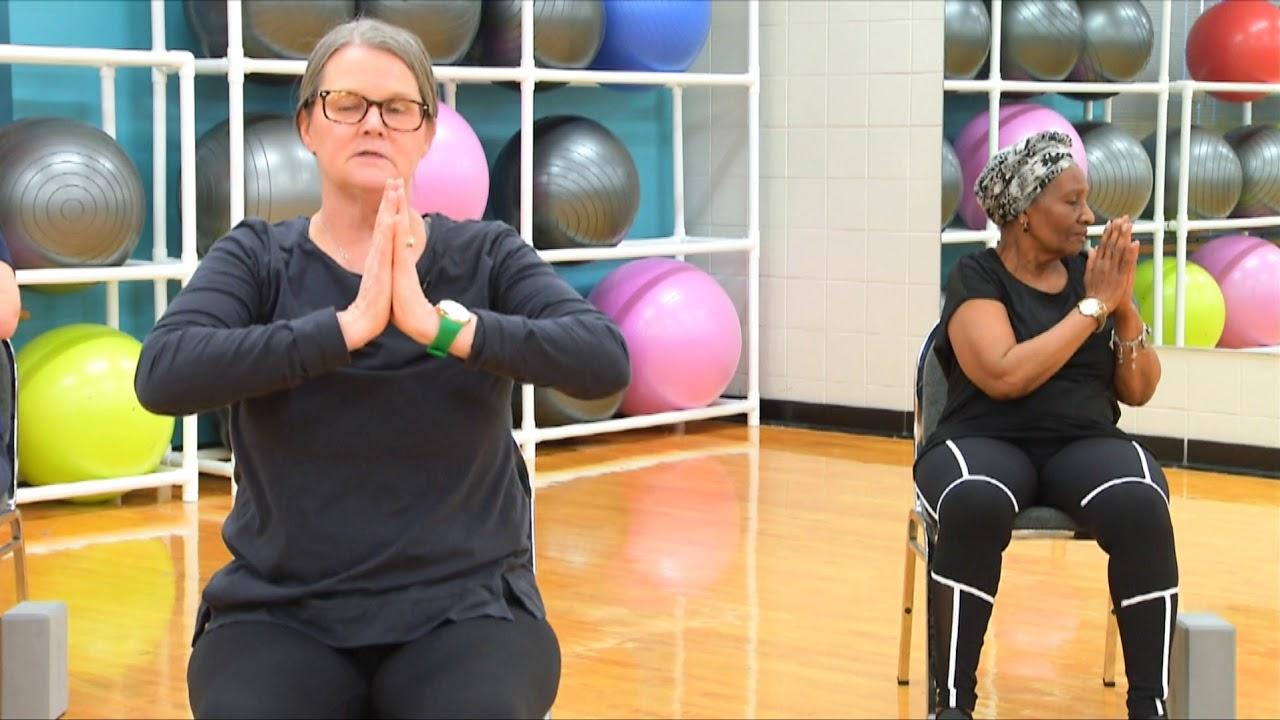 youtube chair yoga mid century cane fun fitness