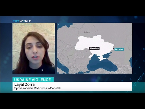 Ukraine Violence: Interview with Layal Dorra from Red Cross in Donetsk