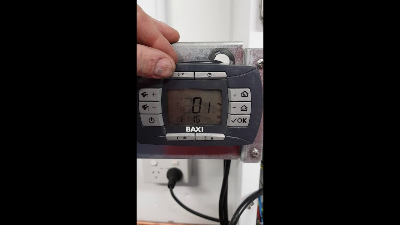 Setting A Baxi Luna 3 Boiler To Low Temperature Mode Youtube