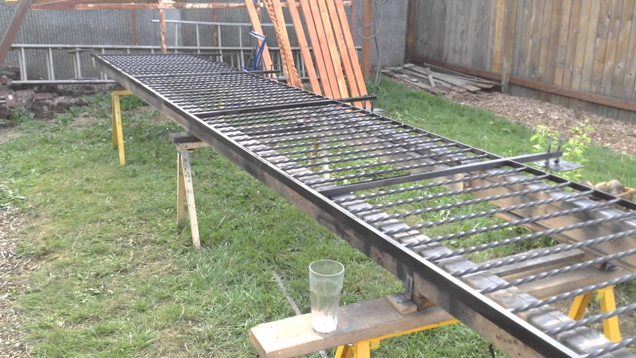 Improvised layout jig for welded steel fences and gates youtube baanklon Images
