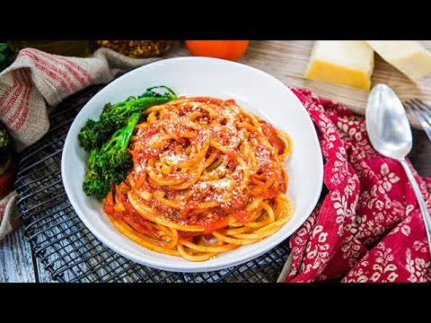 Sarah Drew and Justin Bruening's Bucatini All' Amatriciana  Home & Family
