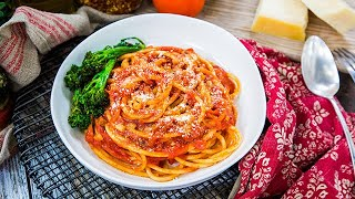 Sarah Drew and Justin Bruening's Bucatini All' Amatriciana - Home & Family