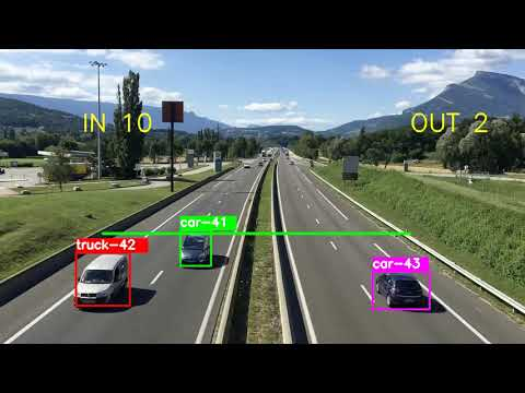 Simple Vehicle Counting Using  OpenCV YOLO3 Python 3.5  And Sort