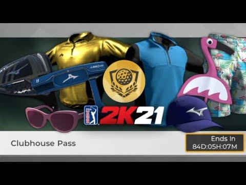 PGA Tour 2k21 Patch Notes Version 1.06: Clubhouse Pass