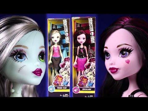 New 2016 Monster High Dolls Ghoul Spirit Cheerleading Draculaura Frankie Stein Playline Collection