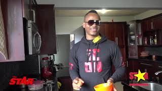 IN THE KITCHEN: No burnt eggs for Marlon Samuels - Cricketer prepares breakfast in 15 minutes.