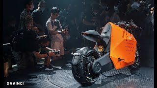 Robotic motorcycle that will be able to drive itself - DaVinci DC 100