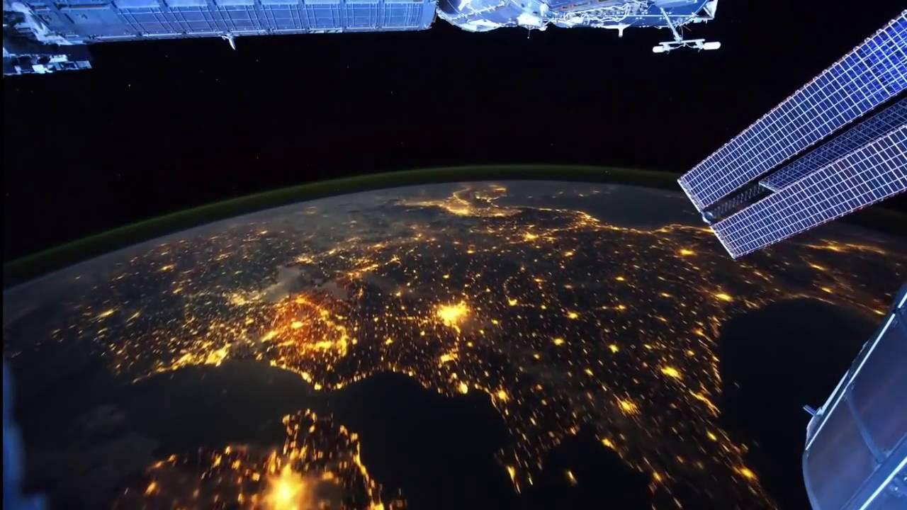 Vista Nocturna Del Planeta Tierra Nasa Estaci 243 N Espacial