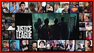 JUSTICE LEAGUE Comic-Con Trailer Reaction's Mashup (31 people)