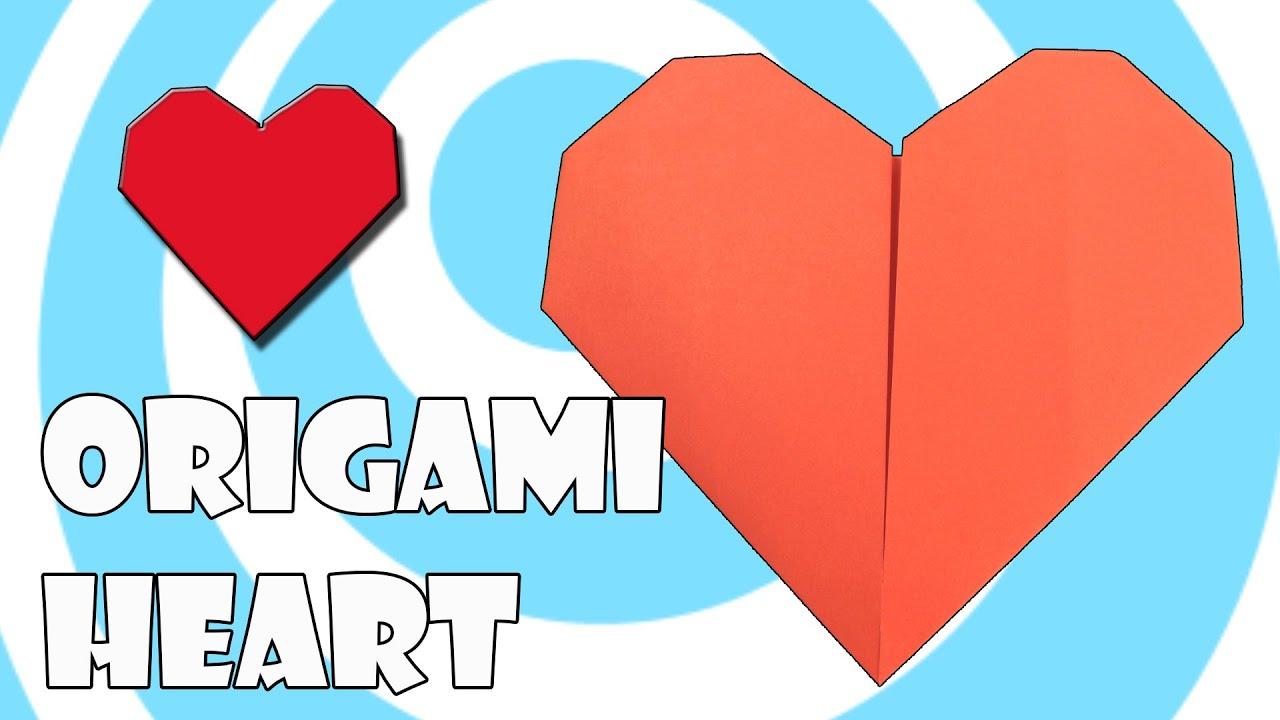Printing paper origami heart tutorial origamite youtube jeuxipadfo Images