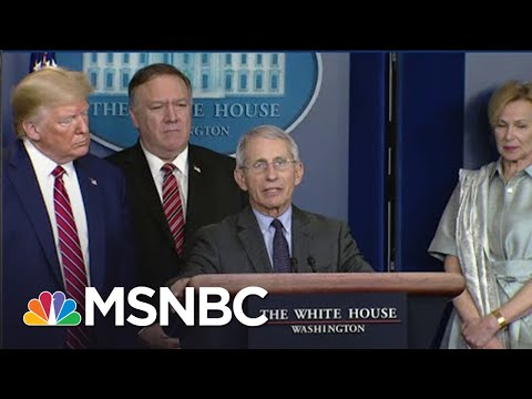 Rebuffed: Watch Trump's Own Medical Expert Fact-Check Him At WH Coronavirus Briefing | MSNBC