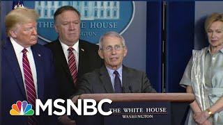 Download Rebuffed: Watch Trump's Own Medical Expert Fact-Check Him At WH Coronavirus Briefing | MSNBC Mp3 and Videos