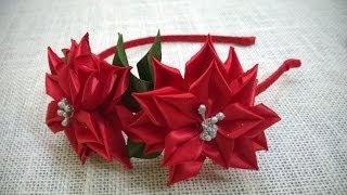 D.I.Y. Satin Ribbon Flower Headband - Tutorial | MyInDulzens