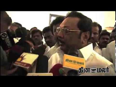 M.K. Alagiri Blames Jayalalithaa Govt in Media at Madurai - dinamalar